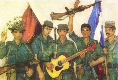 V. Pereyaslavets. Youth of Nicaragua. Oil. 1985