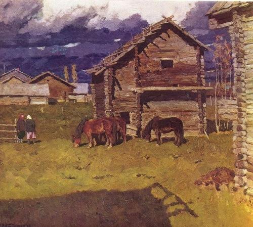 V. Stozharov. Pokrov. Oil. 1969