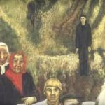 Last villagers of Rusinovo. 1979. Fragment of painting