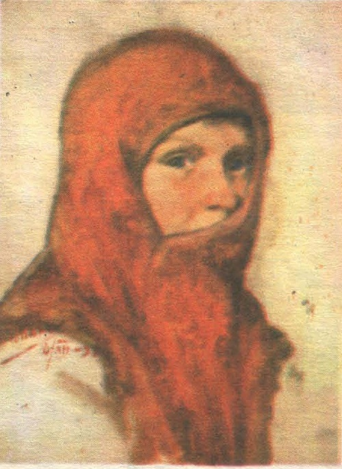Viktor Ivanov. Portrait of Kseniya Abramova. Oil. 1938