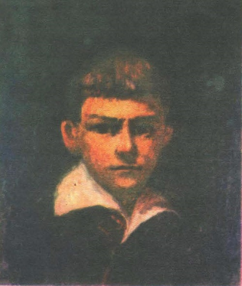Soviet artist Viktor Ivanov. Self-portrait at age 9. Oil. 1933