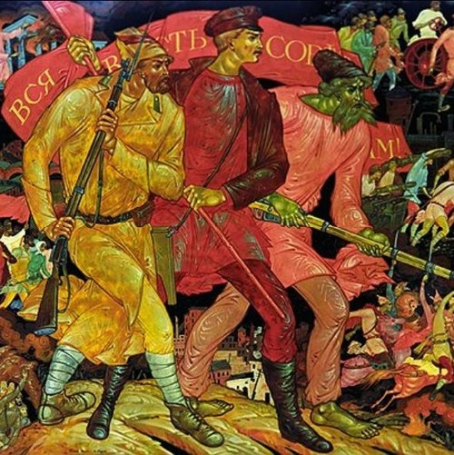 Wind of Revolution in Soviet Palekh Art