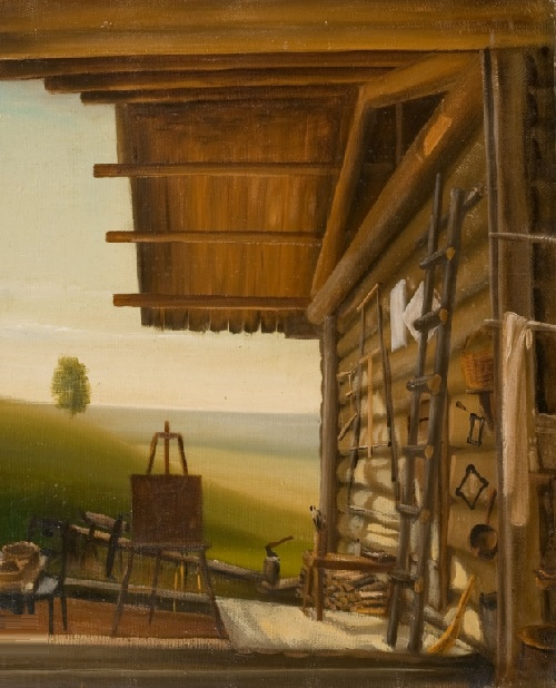 Workshop. Oil on canvas. 1979