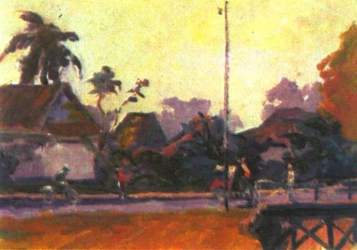 Yuri Zhdanov. Jakarta. Morning. Oil. 1962