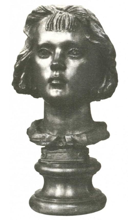 A. Balashov. Portrait of I. Pavlova. Bronze, 1985-1987