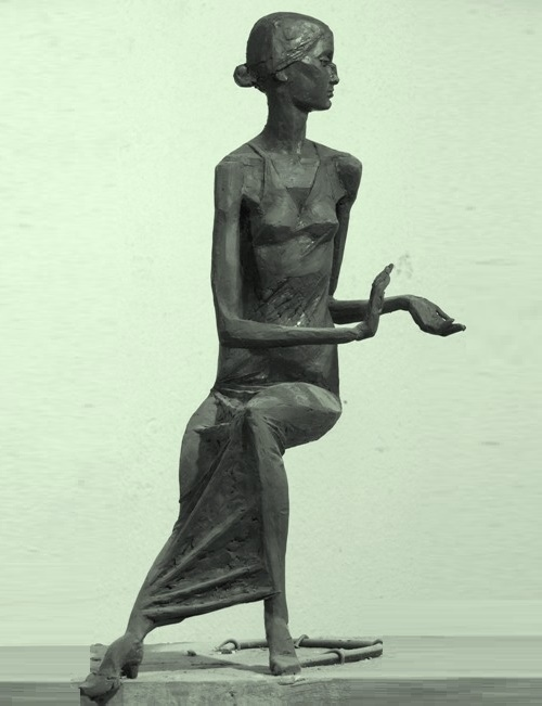 Anna Akhmatova. 2001. Bronze. Sculptor Vladimir Tishin