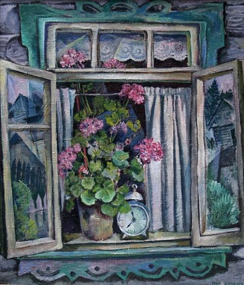 Boris Shamanov (1931-2008). Village window. 1966