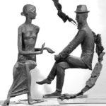 Soviet Russian sculptor Vladimir Tishin