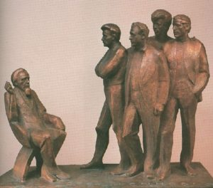 Father and sons. Bronze. 1972