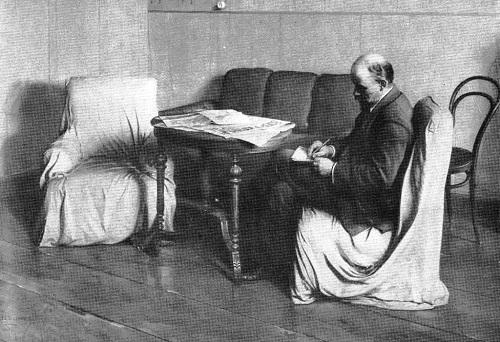 Socialist Realism artist Isaak Brodsky. Lenin in Smolny. Oil. 1930