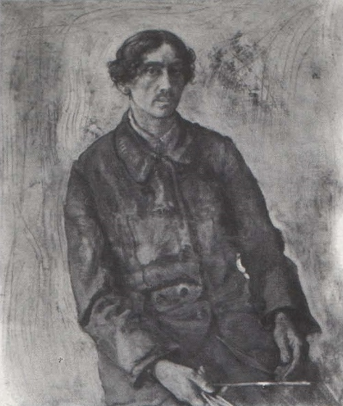 Socialist Realism artist Isaak Brodsky. Self-portrait. Oil. 1904