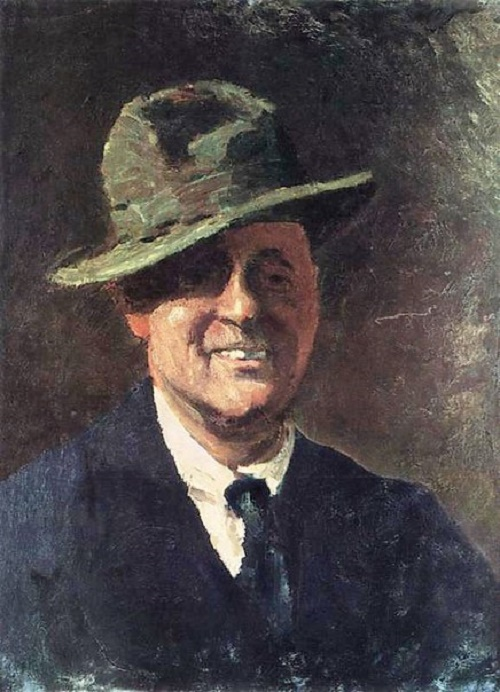 Soviet artist Igor Grabar (1871-1960) Self-portrait in a hat. 1921