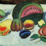 Tashkent Art Museum. Still life with fruit. Oil on canvas