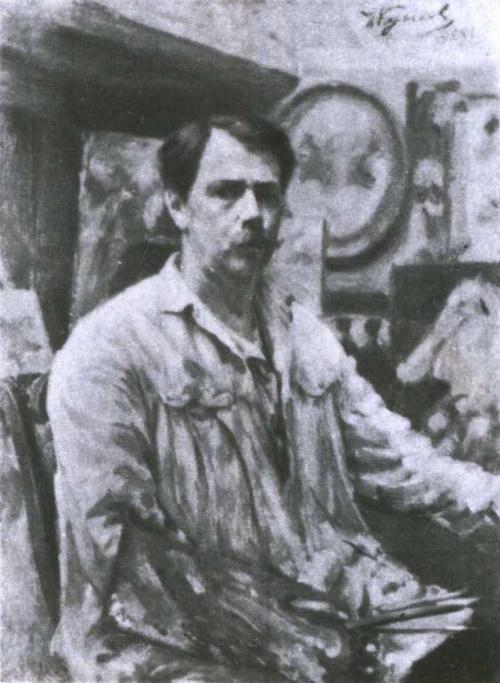 Ivan Kulikov (1875-1941). Self-portrait. Oil. 1928