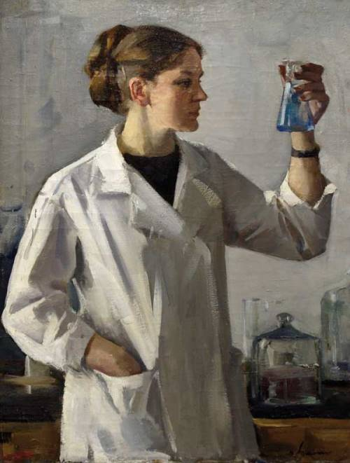 Laboratory assistant. 1970s