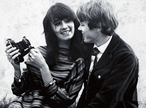 Soviet fashion model Leka Mironova with her boyfriend