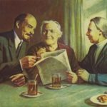 Friendly talk - Lenin, Clara Zetkin and Nadezhda Krupskaya