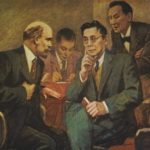 Lenin theme in paintings of Boris Lebedev