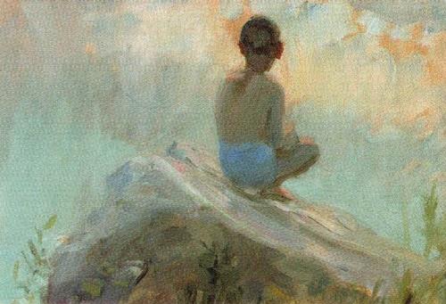 Morning. 1947. Soviet artist Boris Mikhailovich Nemensky
