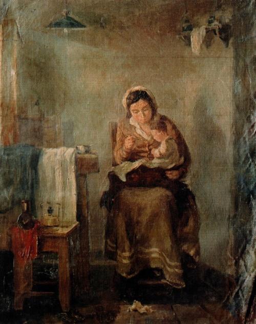 Soviet realist painter Nikolai Romadin. Mother. 1934. Private collection