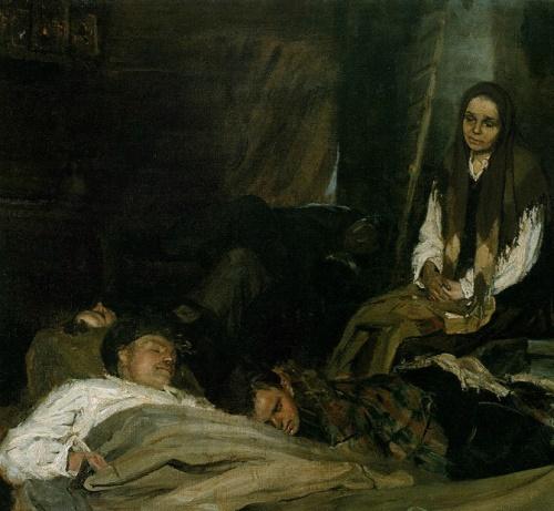 Mother. 1945. The State Tretyakov Gallery, Moscow. Soviet artist Boris Mikhailovich Nemensky