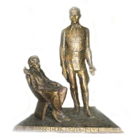 Soviet sculptor Yuri Chernov. My fathers. Bronze. 2008