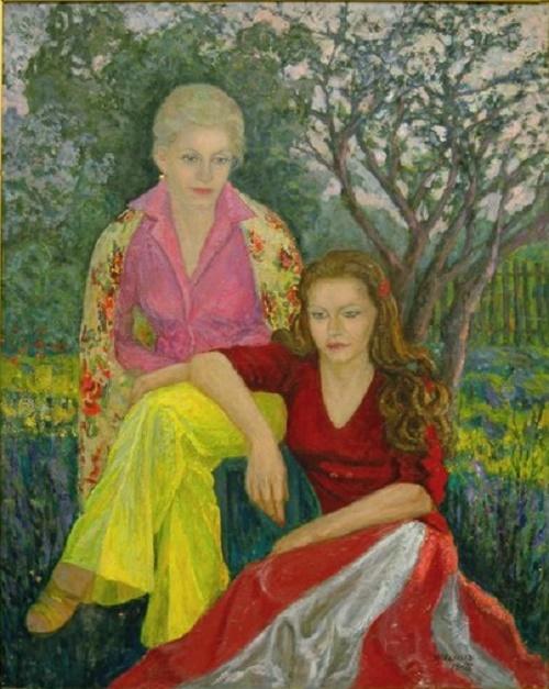 N.Malakhov. 'Sisters'. Valentina Yashina and her sister