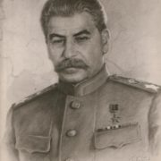 Portrait of Iosif Stalin. Boris Karpov (1896-1968)