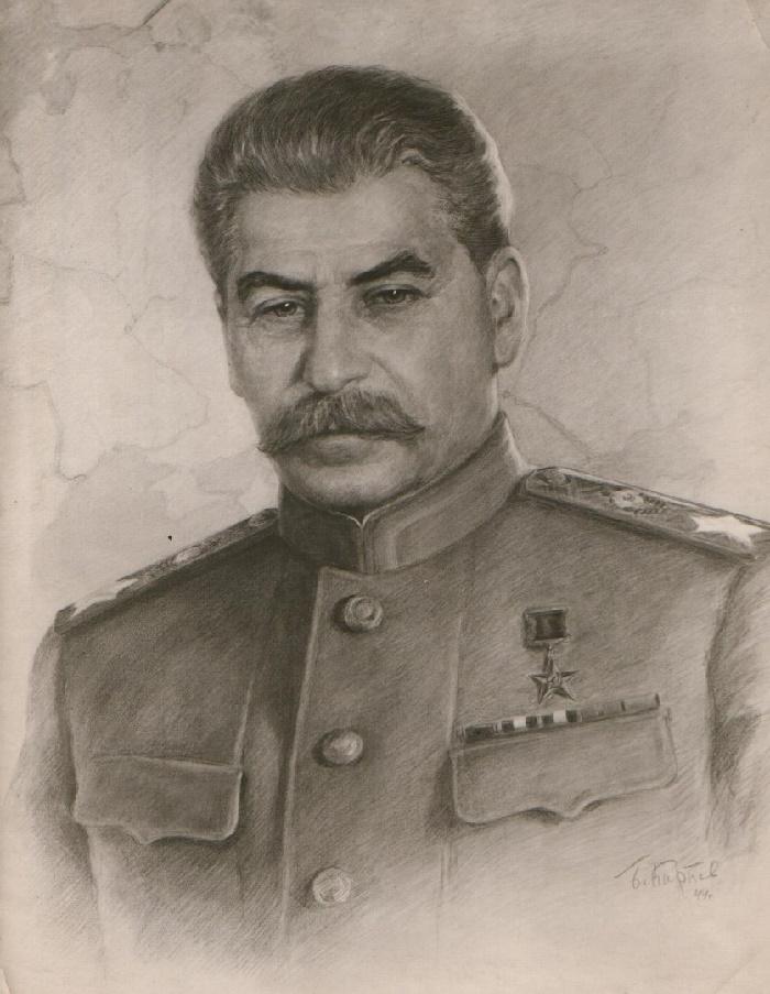 Portrait of Iosif Stalin. Boris Karpov (1896-1968)