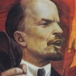 Portrait of Lenin speaking