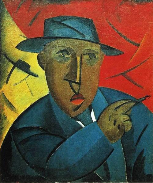 Portrait of the Artist (self-portrait). 1912-1913. Art Museum, Kostroma. Soviet artist Constructivist Vladimir Tatlin (28 December 1885 — 31 May 1953)