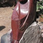 Sad angel. 2004. stone (porphyry)