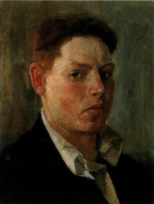 Self-portrait. 1945. The property of the artist