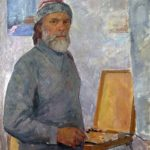 Self-portrait. 1980s. Painting by Anatoly Yudin