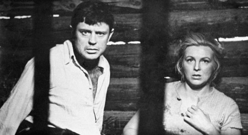 Soviet Latvian actors Donatas Banionis and Via Artmane