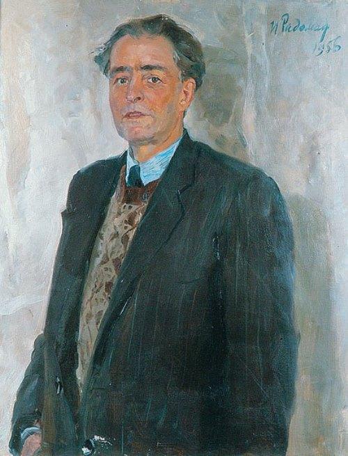 Soviet artist Igor Radoman (1921-1992). Portrait of artist A. Morozov. 1956