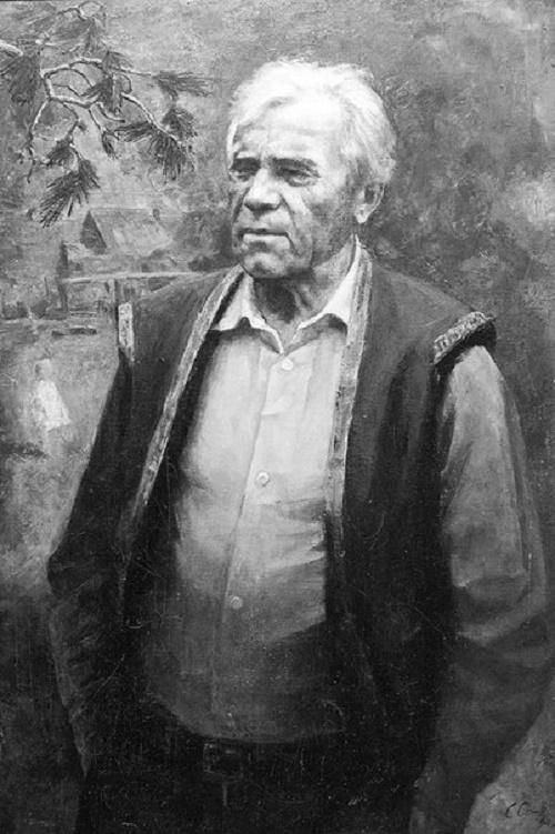 Soviet artist Stepan Orlov (1929-2003). Portrait of the writer VP Astafyev (1994)