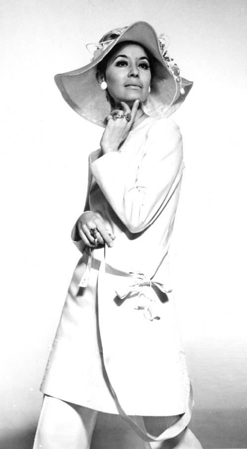 Soviet fashion model Leka Mironova