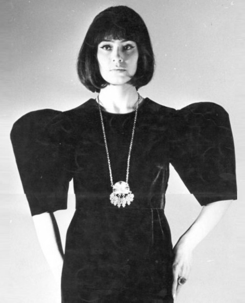 Soviet fashion model Leka Mironova