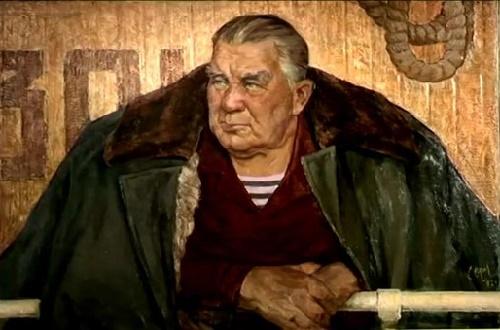 Stepan Orlov (1929-2003). Portrait of river captain Nikolai Koptsev