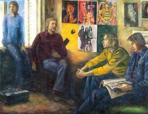 Tatyana Nazarenko (b. 1944). After exam. 1976. Oil on canvas