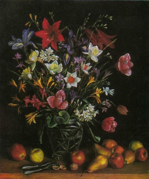 Tatyana Nazarenko. Flowers. Oil. 1981