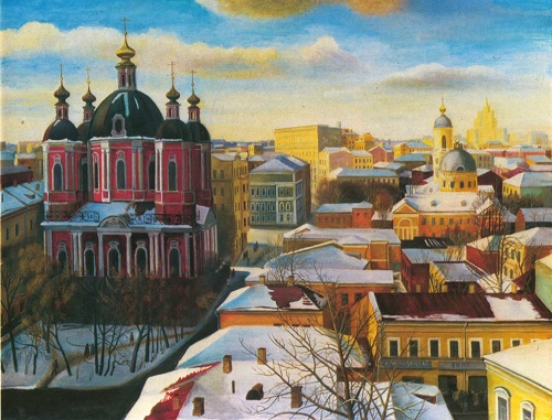 Tatyana Nazarenko. Klimentovsky lane. Oil. 1988