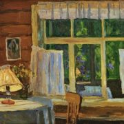 The evening in the house of the artist Andrei Tutunov. 1962. Soviet artist Alexei Gritsai
