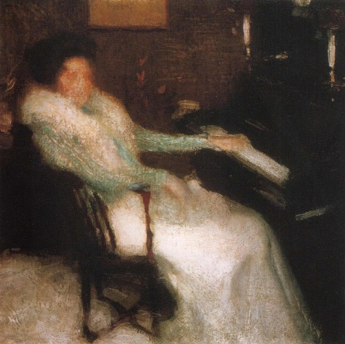 The lady at the piano. 1899