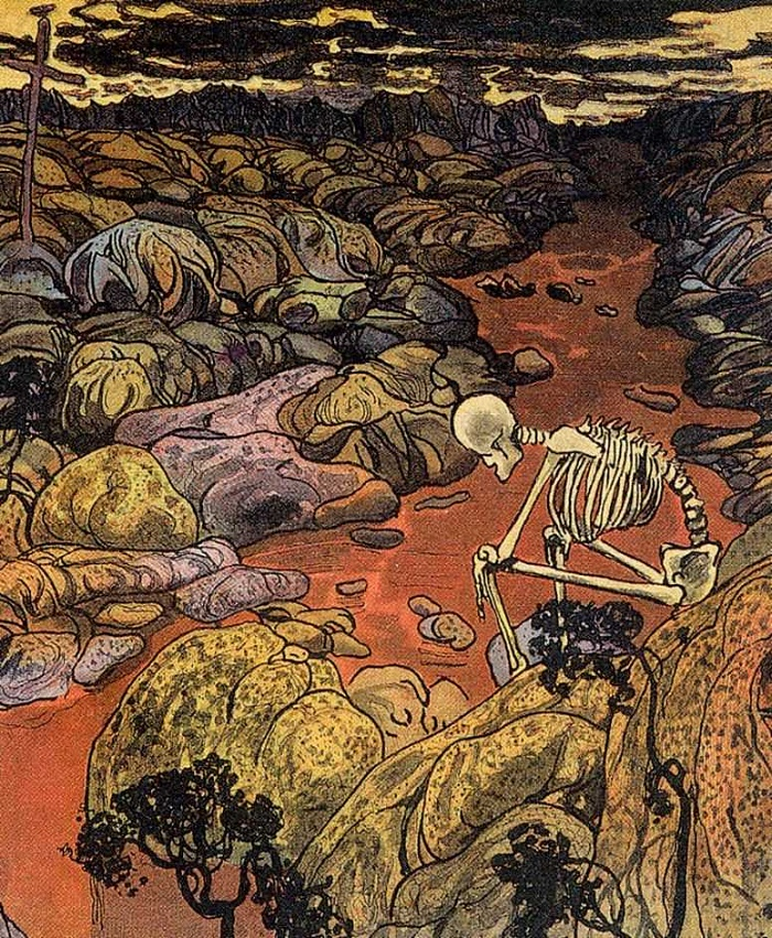 Tired. Magazine 'Leshyi'. 1906