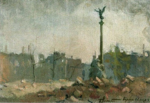 Victory Column. May 12, 1945. From a series of sketches Berlin