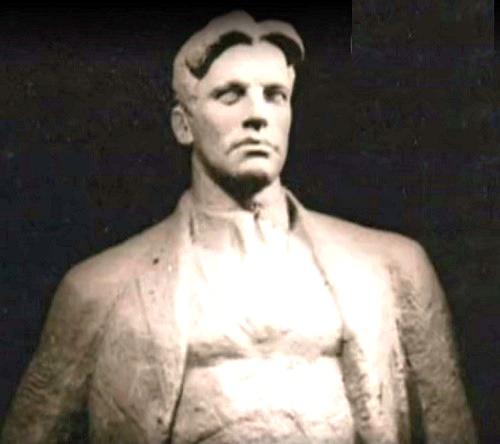 Vladimir Mayakovsky, sculpture by Soviet sculptor Nikita-Gleb Lavinsky