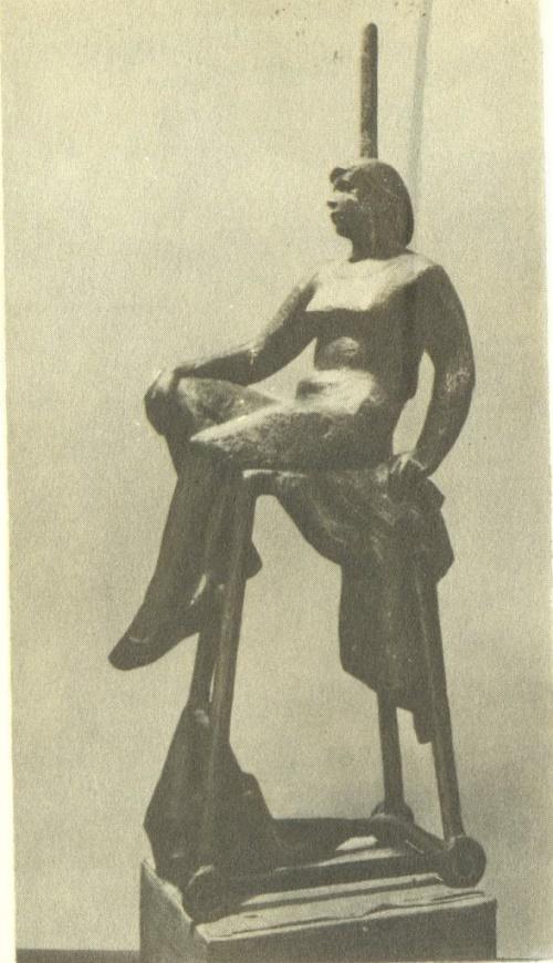 Soviet sculptor Yuri Chernov. Break. Aluminum. 1972