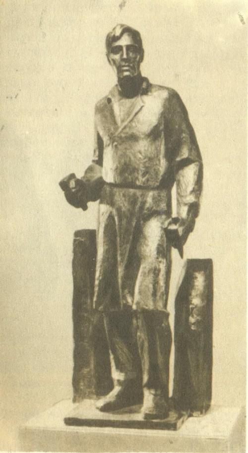 Soviet sculptor Yuri Chernov. Sketch of the monument to the sculptor I. Shadr in Shadrinsk. Bronze